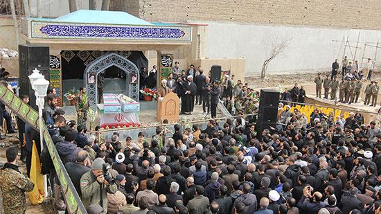 مراسم تشییع و تدفین دو شهید گمنام دفاع مقدس