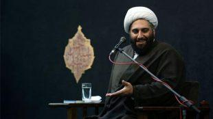 TasvirShakhes-Kashani-13980629-Ahamiyate Azadari-Shabe21Moharram-Masjed Shahid Beheshti-Thaqalain_IR